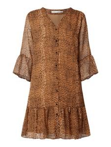 Brązowa sukienka InWear mini koszulowa z długim rękawem
