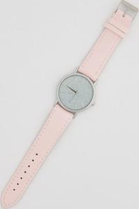Sinsay - Zegarek z brokatową tarczą - Różowy