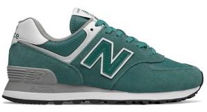 f3cdc860 Zielone buty sportowe New Balance z zamszu
