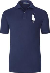 Niebieska koszulka polo POLO RALPH LAUREN z nadrukiem