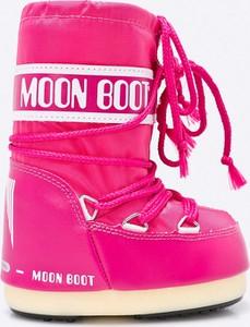 Różowe buty dziecięce zimowe Moon Boot