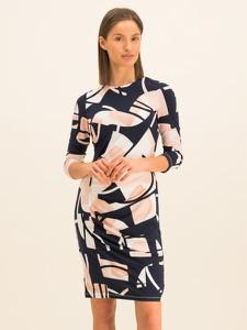 Sukienka DKNY dopasowana w geometryczne wzory