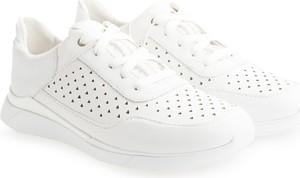 Buty sportowe ubierzsie.com z płaską podeszwą sznurowane ze skóry