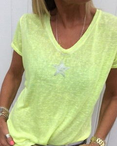 T-shirt Kendallme z dekoltem w kształcie litery v