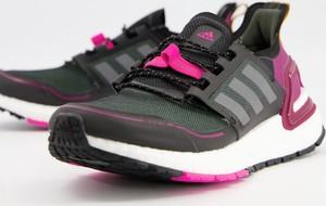 Czarne buty sportowe Adidas Performance z płaską podeszwą