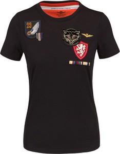 T-shirt Aeronautica Militare w młodzieżowym stylu z bawełny z krótkim rękawem
