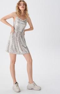 Srebrna sukienka House mini
