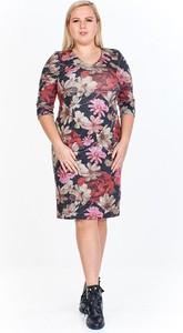 Sukienka Fokus z długim rękawem midi dla puszystych
