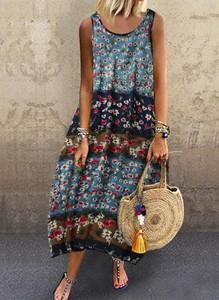 Sukienka Cikelly z okrągłym dekoltem maxi
