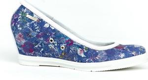 Niebieskie półbuty Zapato w stylu boho