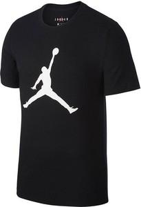 Czarny t-shirt Air Jordan z nadrukiem