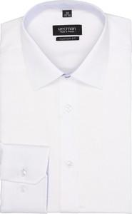Biała koszula recman bez wzorów z długim rękawem