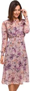 Sukienka Style z długim rękawem z okrągłym dekoltem