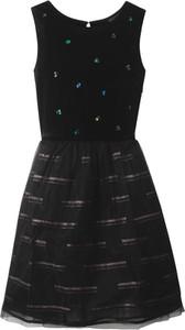 Czarna sukienka dziewczęca bonprix bpc bonprix collection
