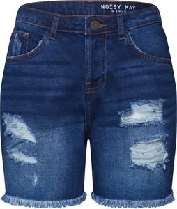 Niebieskie szorty Noisy May w street stylu z jeansu
