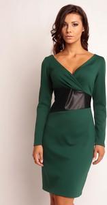 Sukienka sukienki.pl z dekoltem w kształcie litery v