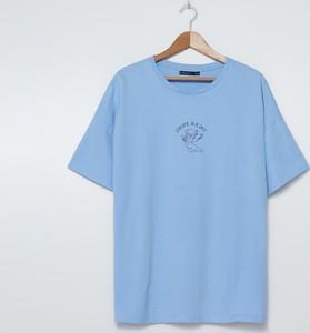 Niebieska bluzka House z krótkim rękawem