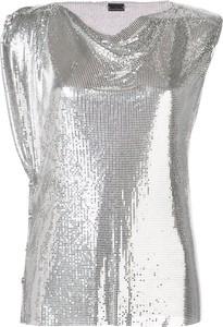Srebrny top Paco Rabanne