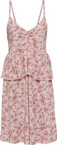 Sukienka bonprix BODYFLIRT w stylu casual midi z dekoltem w kształcie litery v