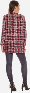 Czerwona kurtka Bien Fashion długa w stylu boho