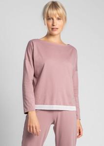 Różowa bluzka Lalupa z bawełny