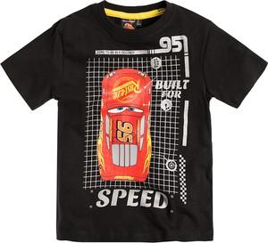 Czarna koszulka dziecięca Odzież Licencyjna z bawełny z krótkim rękawem