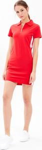 Czerwona sukienka Gate mini z bawełny