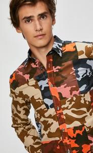 Koszula Diesel z bawełny z długim rękawem z klasycznym kołnierzykiem