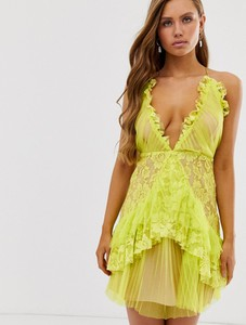 Zielona sukienka Collective The Label na ramiączkach