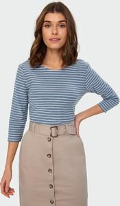 Bluzka Greenpoint z okrągłym dekoltem z bawełny w stylu casual
