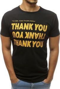 T-shirt Dstreet z krótkim rękawem z nadrukiem z bawełny