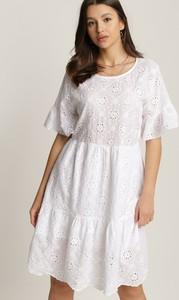 Sukienka Renee mini z krótkim rękawem z okrągłym dekoltem