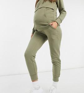 Mama Licious Mamalicious Maternity – Joggersy w kolorze khaki, część zestawu-Zielony