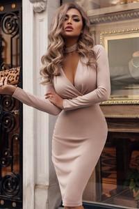 Sukienka Ivet.pl kopertowa midi