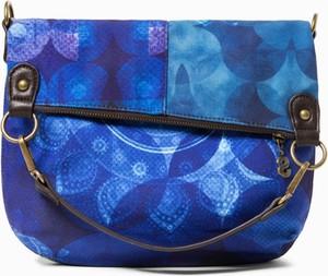 Niebieska torebka Desigual na ramię