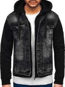 Czarna kurtka Denley krótka w młodzieżowym stylu
