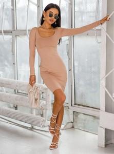 Sukienka SELFIEROOM dopasowana mini z długim rękawem
