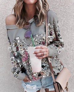 Bluzka Kendallme z długim rękawem z dekoltem w kształcie litery v w stylu casual