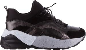 Czarne buty sportowe bayla sznurowane