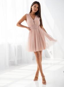 Różowa sukienka SELFIEROOM bez rękawów