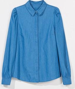 Niebieska koszula Mohito z jeansu