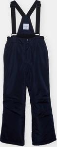 Granatowe spodnie dziecięce Sinsay