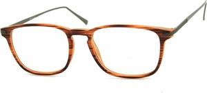 Stylion Oprawki korekcyjne Nerdy zerówki Sunoptic CP144G brązowe - imitacja drewna