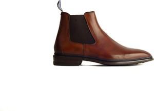 Brązowe buty zimowe Floris Van Bommel ze skóry