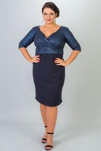 Niebieska sukienka KARKO midi