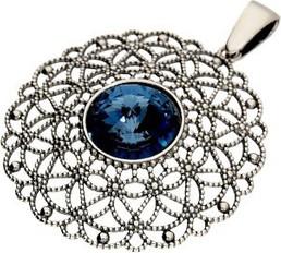 Polcarat Design Srebrny oksydowany wisiorek Swarovski W 1719 : Kolor - Montana