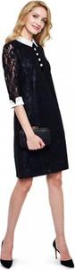 Czarna sukienka L'AF z satyny prosta