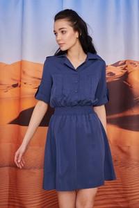 Granatowa sukienka Naoko szmizjerka