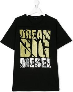 Czarna bluzka dziecięca Diesel Kids z bawełny