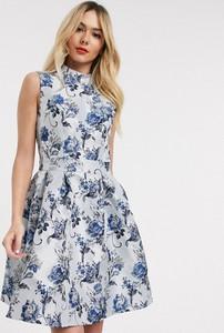 Niebieska sukienka Chi Chi London mini